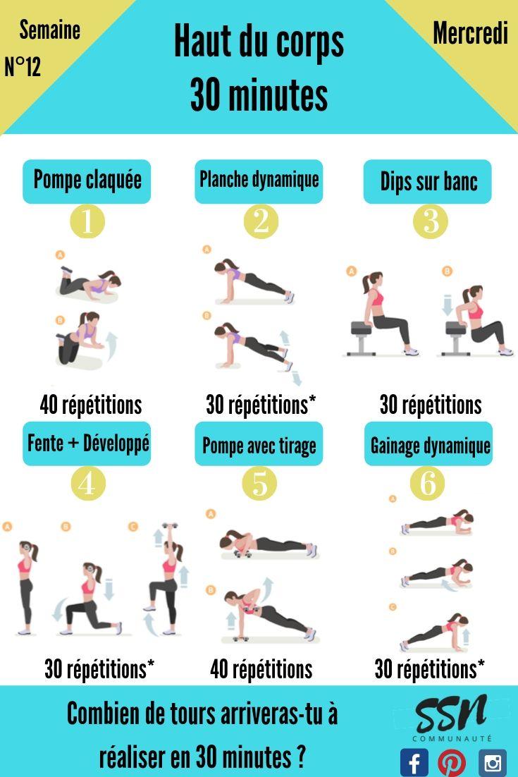 Séance de musculation sans matériels spécial pectoraux / triceps / abdominaux / dos