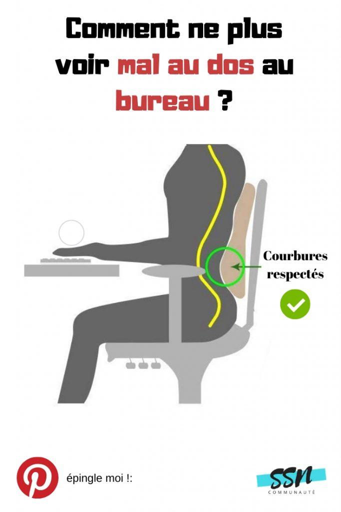 Commentne plus voir mal au dos au bureau