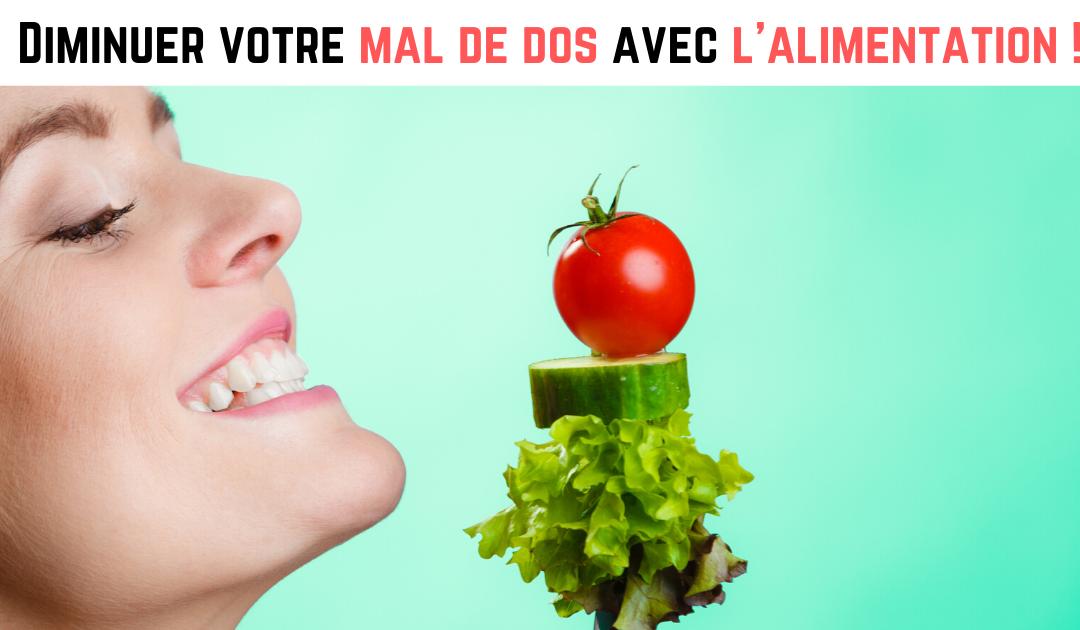 Diminuez l'inflammation de votre dos grâce à votre alimentation !