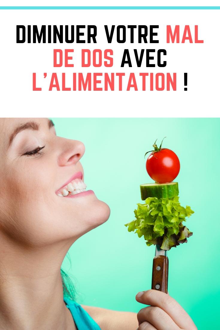 Diminuer votre mal de dos avec l'alimentation !